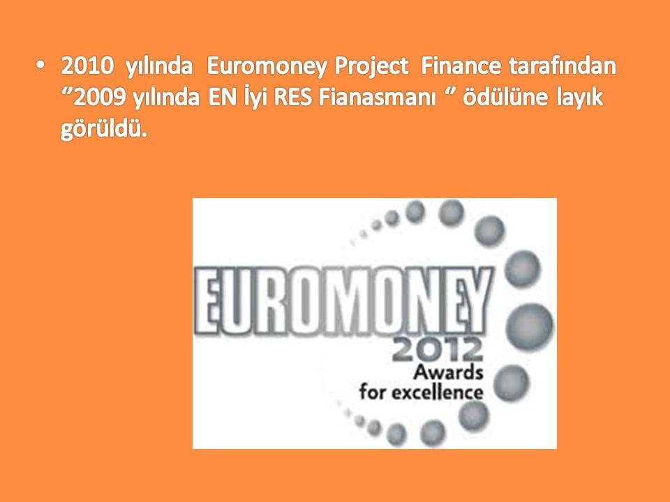 2010 yılında Euromoney Project Finance tarafından ''2009 yılında EN İyi RES Fianasmanı '' ödülüne layık görüldü.