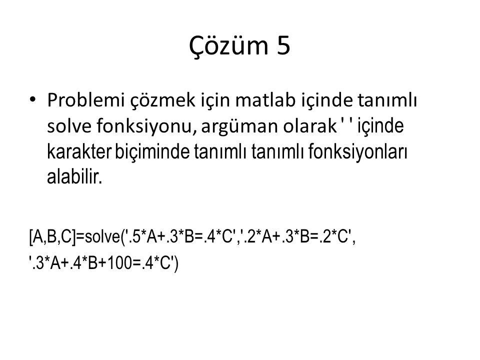 Çözüm 5
