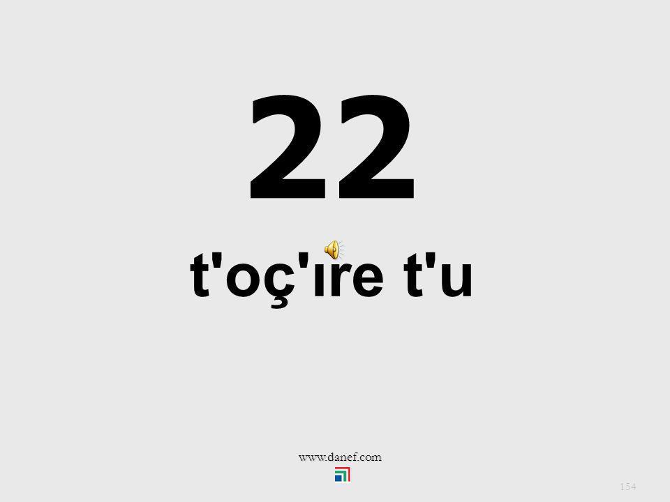 22 t oç ıre t u www.danef.com