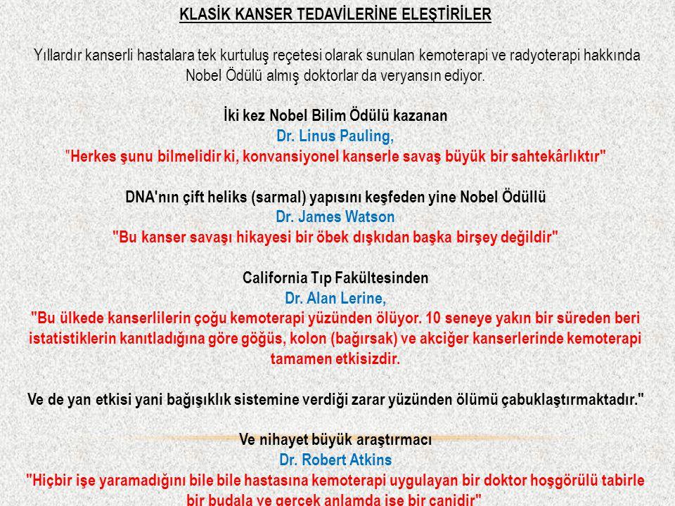 KLASİK KANSER TEDAVİLERİNE ELEŞTİRİLER