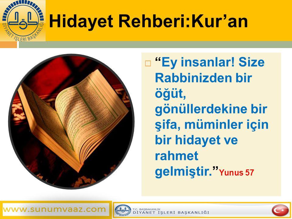 Hidayet Rehberi:Kur'an