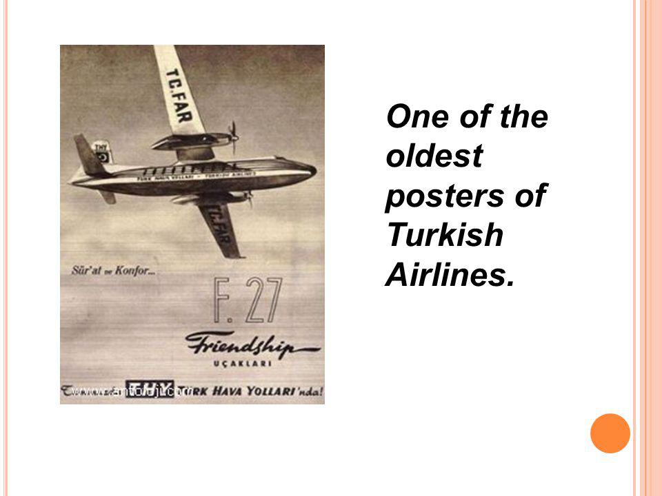 One of the oldest posters of Turkish Airlines.