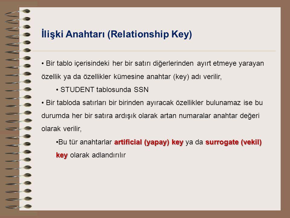 İlişki Anahtarı (Relationship Key)