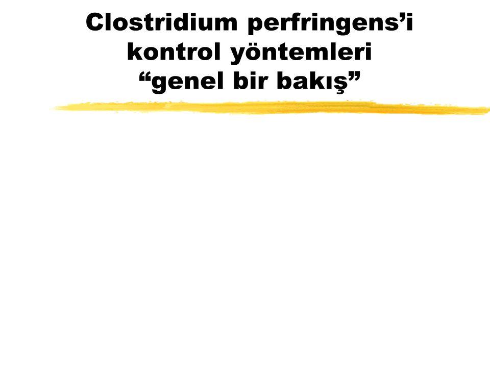 Clostridium perfringens'i kontrol yöntemleri genel bir bakış