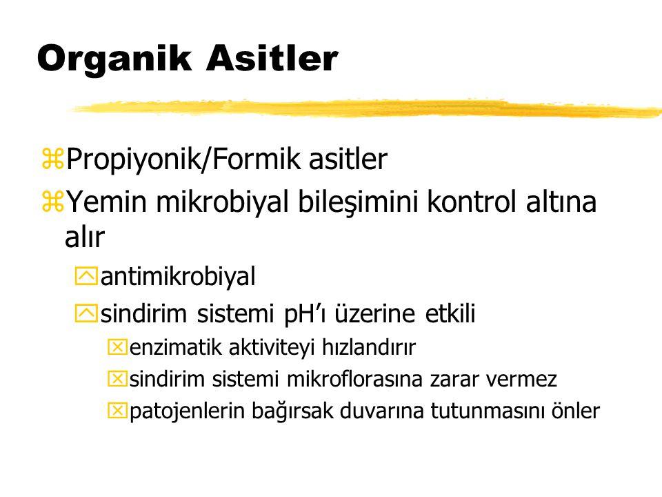 Organik Asitler Propiyonik/Formik asitler