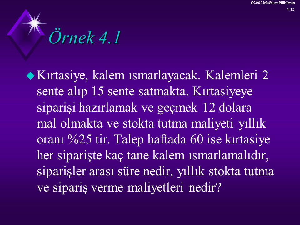 Örnek 4.1