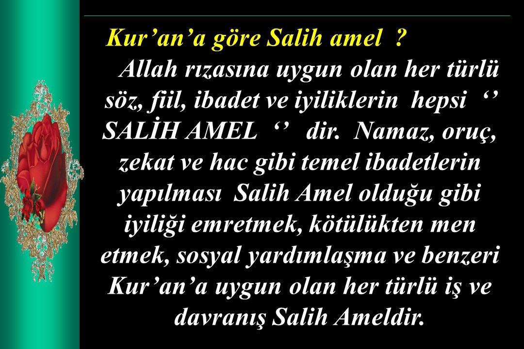 Kur'an'a göre Salih amel
