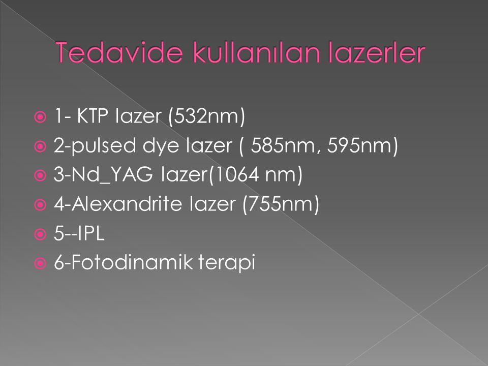 Tedavide kullanılan lazerler