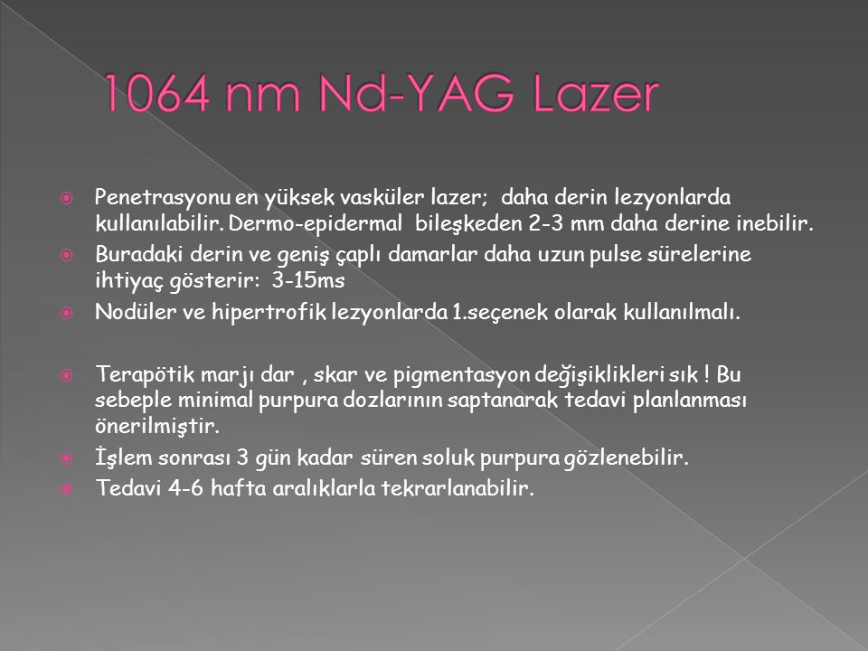 1064 nm Nd-YAG Lazer