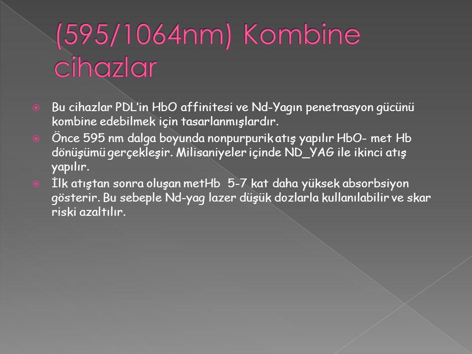 (595/1064nm) Kombine cihazlar