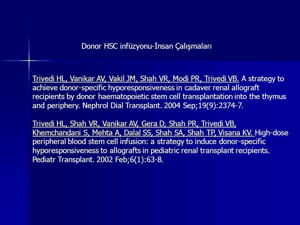 Donor HSC infüzyonu-İnsan Çalışmaları