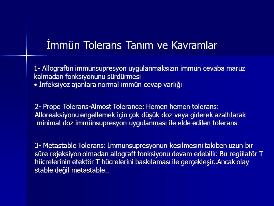 İmmün Tolerans Tanım ve Kavramlar
