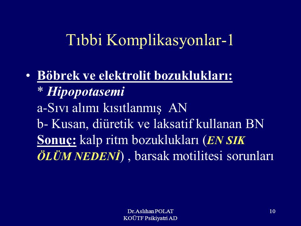 Tıbbi Komplikasyonlar-1