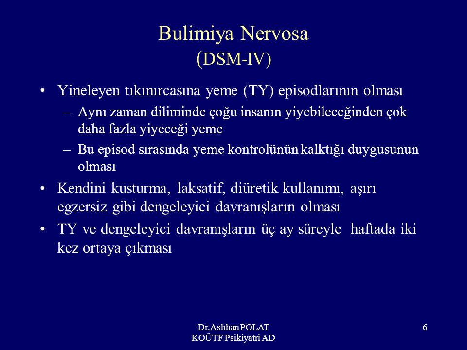 Bulimiya Nervosa (DSM-IV)