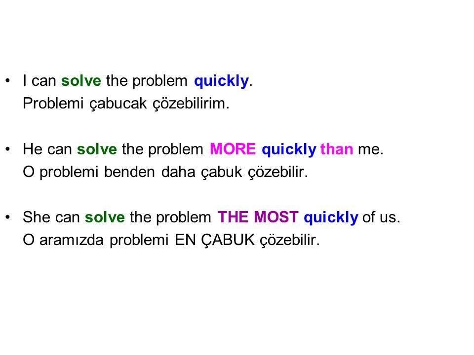 I can solve the problem quickly.