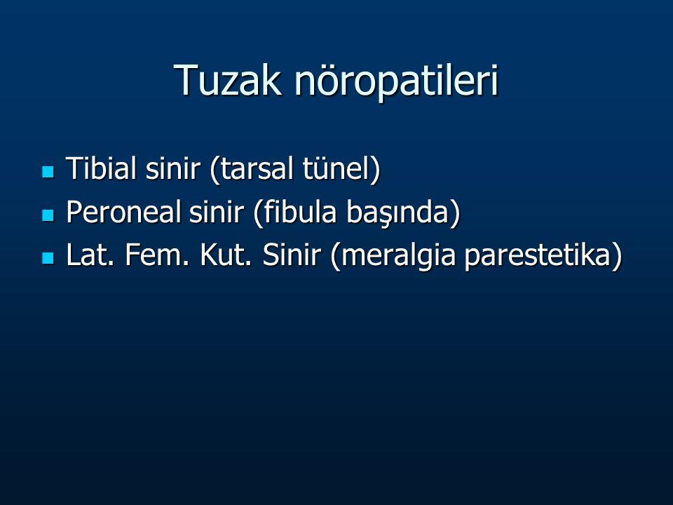 Tuzak nöropatileri Tibial sinir (tarsal tünel)