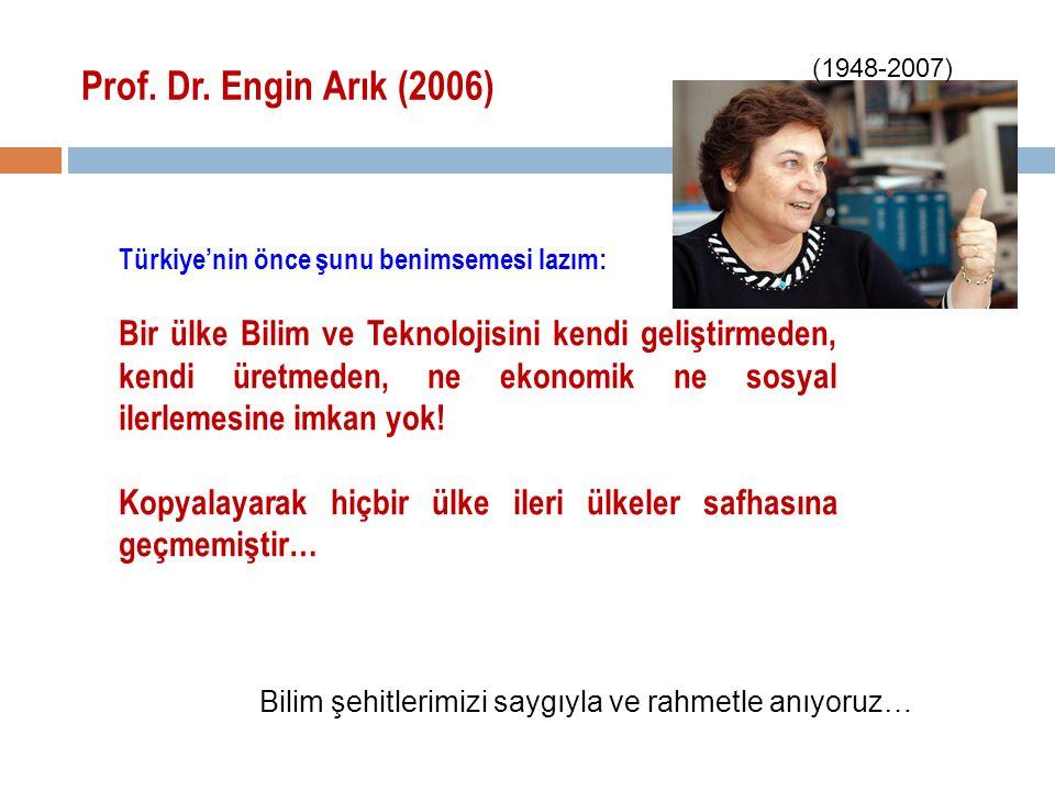 Prof. Dr. Engin Arık (2006) (1948-2007) Türkiye'nin önce şunu benimsemesi lazım: