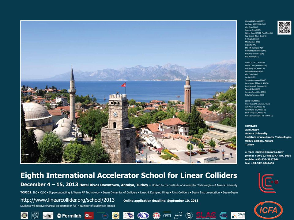 Duyuru VIII. International Accelerator School on Linear Collider