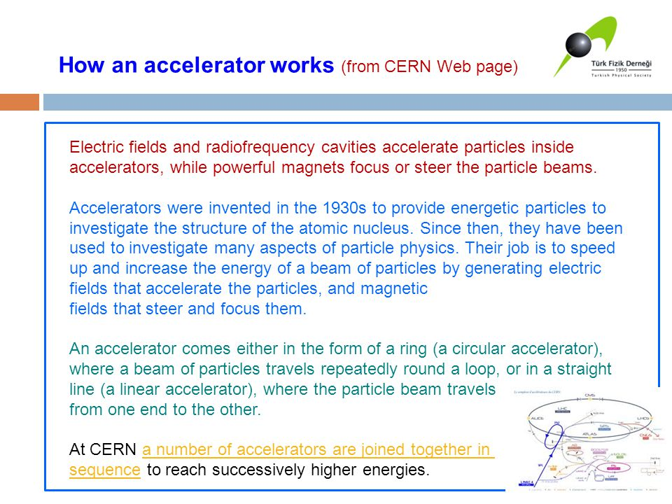 How an accelerator works (from CERN Web page)