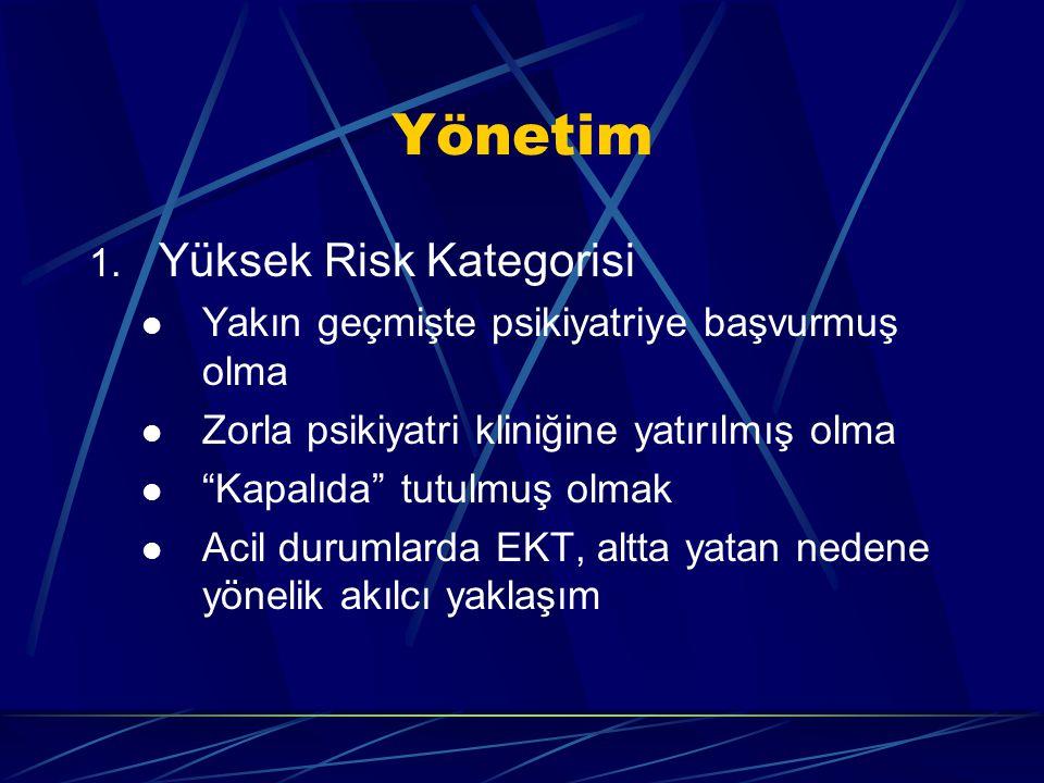 Yönetim Yüksek Risk Kategorisi
