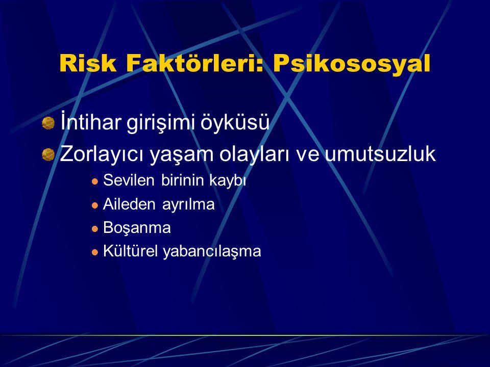 Risk Faktörleri: Psikososyal