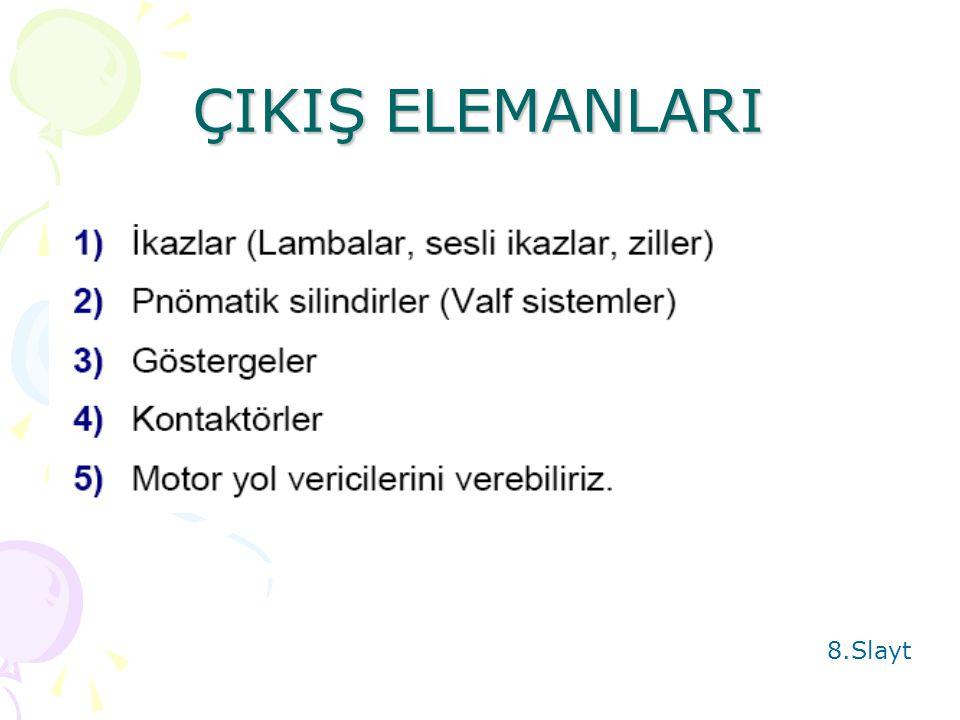 ÇIKIŞ ELEMANLARI 8.Slayt