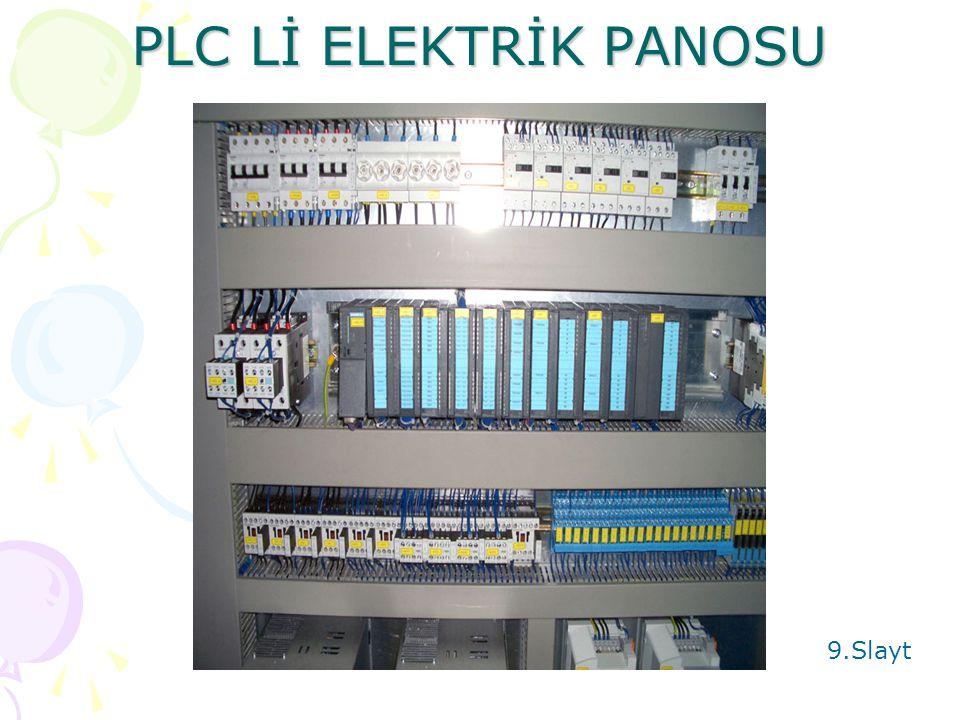 PLC Lİ ELEKTRİK PANOSU 9.Slayt