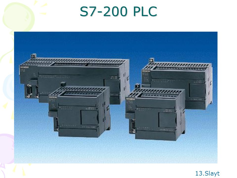 S7-200 PLC 13.Slayt