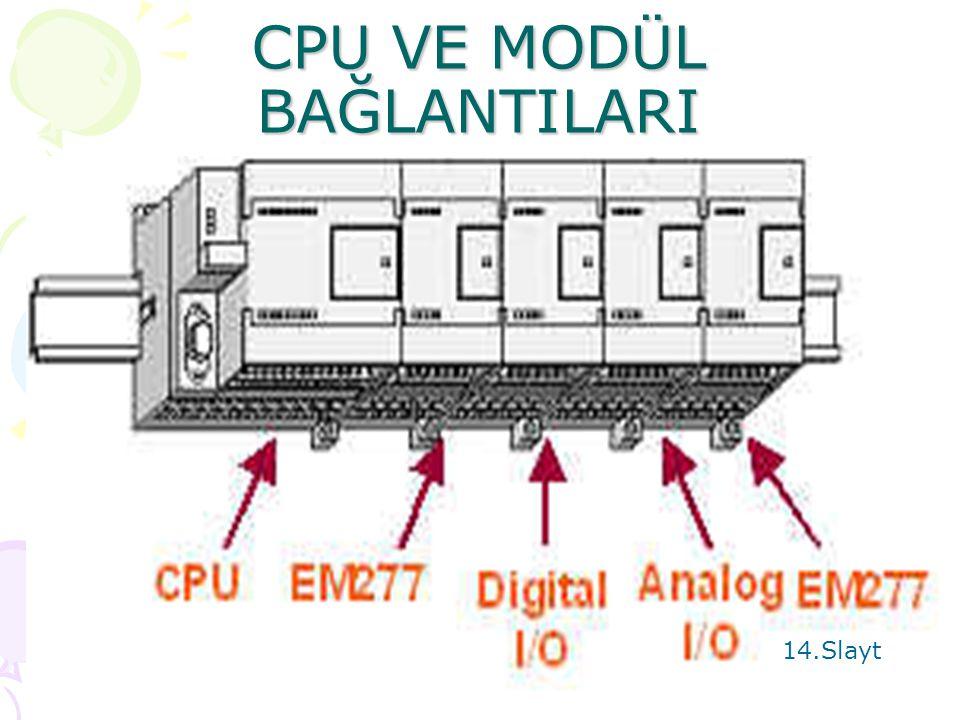 CPU VE MODÜL BAĞLANTILARI