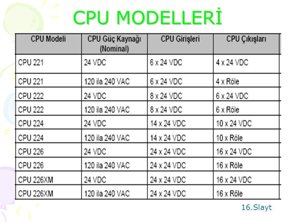 CPU MODELLERİ 16.Slayt