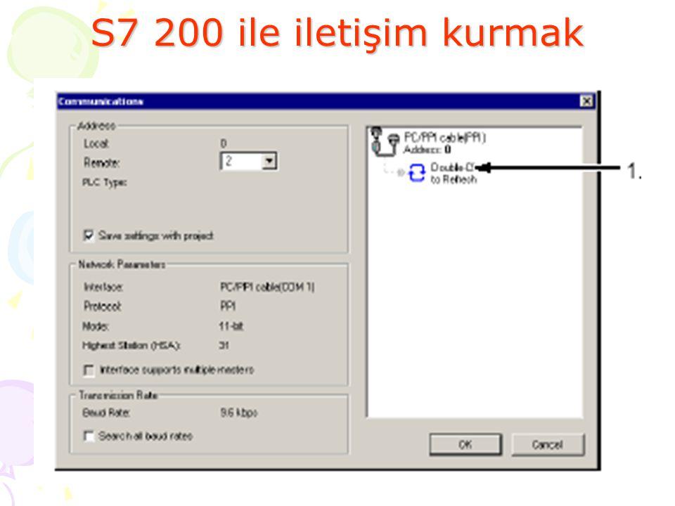 S7 200 ile iletişim kurmak