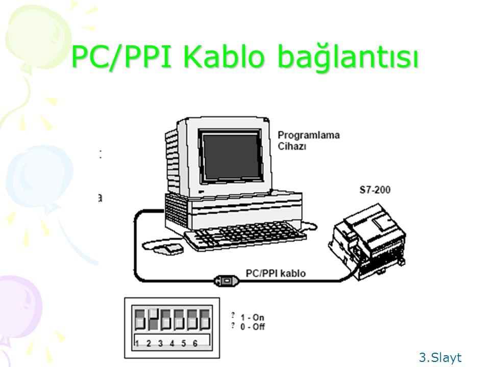 PC/PPI Kablo bağlantısı