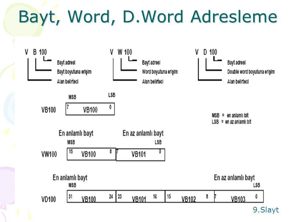 Bayt, Word, D.Word Adresleme