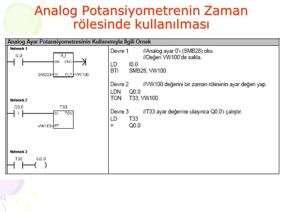 Analog Potansiyometrenin Zaman rölesinde kullanılması