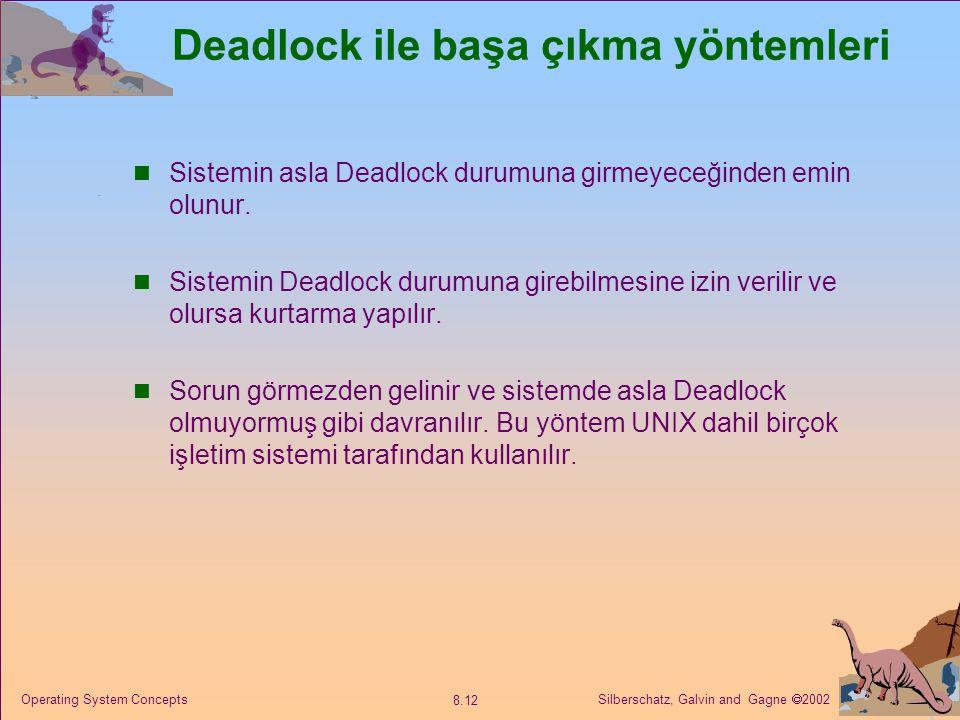 Deadlock ile başa çıkma yöntemleri
