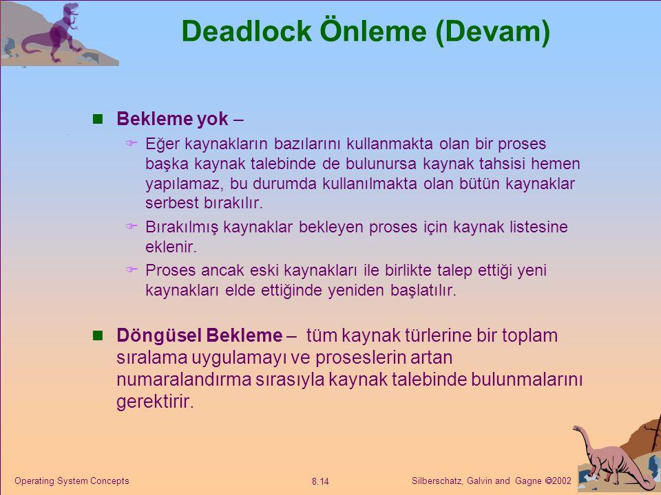 Deadlock Önleme (Devam)