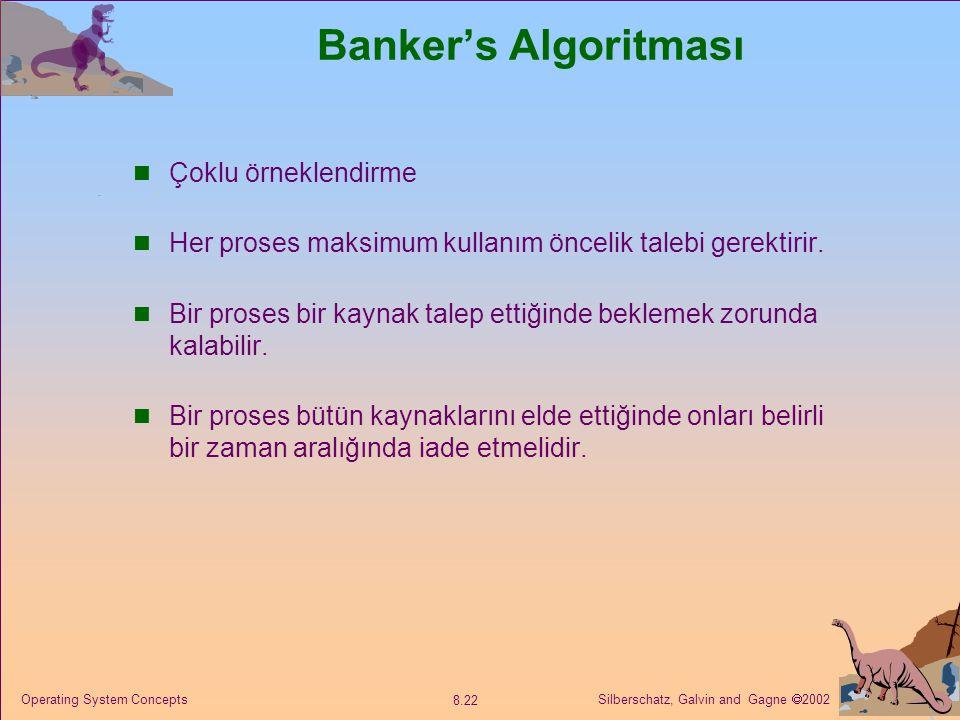 Banker's Algoritması Çoklu örneklendirme