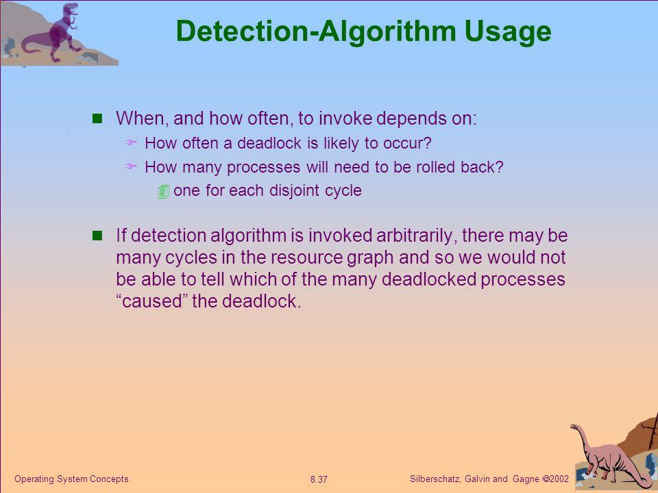 Detection-Algorithm Usage