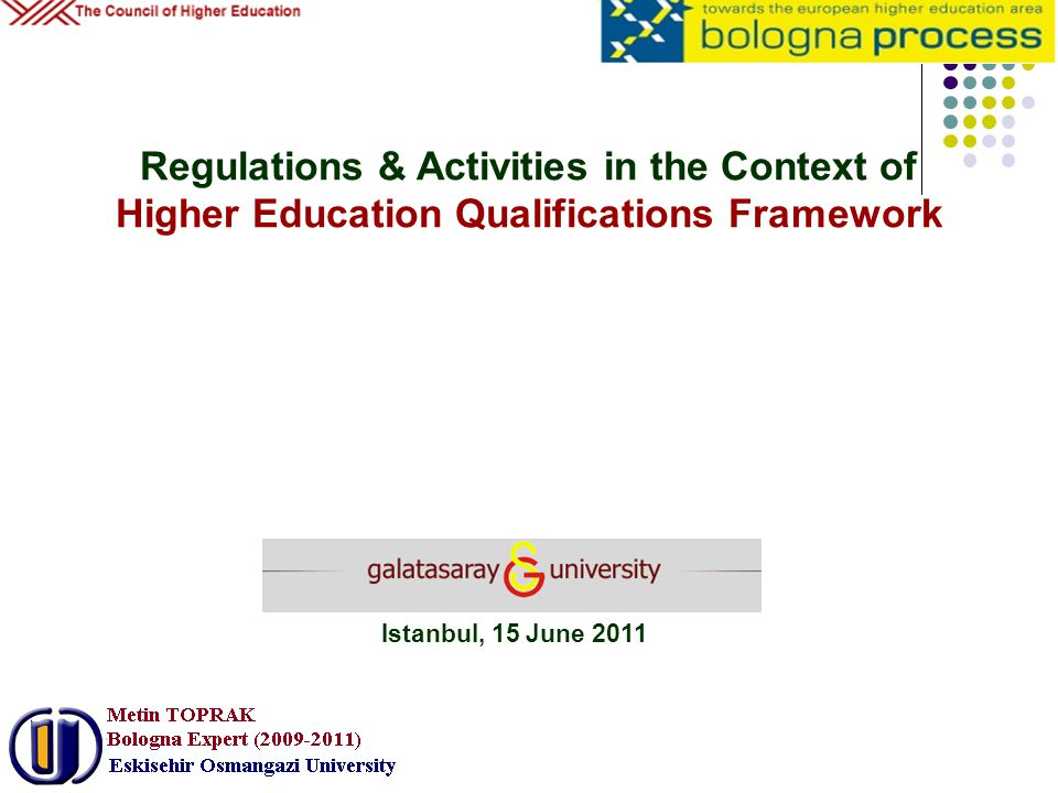 Regulations & Activities in the Context of Higher Education Qualifications Framework