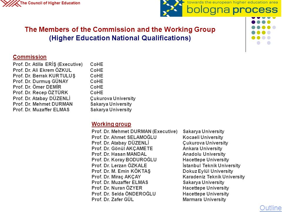 07.04.2017 07.04.2017. The Members of the Commission and the Working Group (Higher Education National Qualifications)