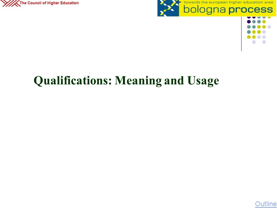 Qualifications: Meaning and Usage