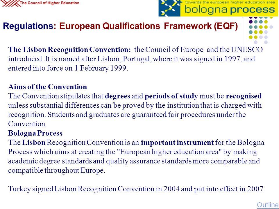 Regulations: European Qualifications Framework (EQF)