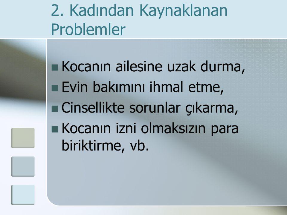 2. Kadından Kaynaklanan Problemler