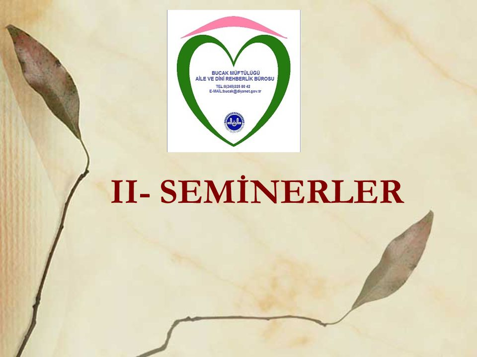 II- SEMİNERLER
