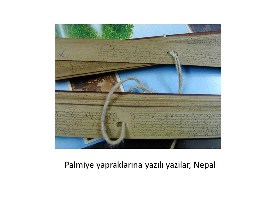 Palmiye yapraklarına yazılı yazılar, Nepal