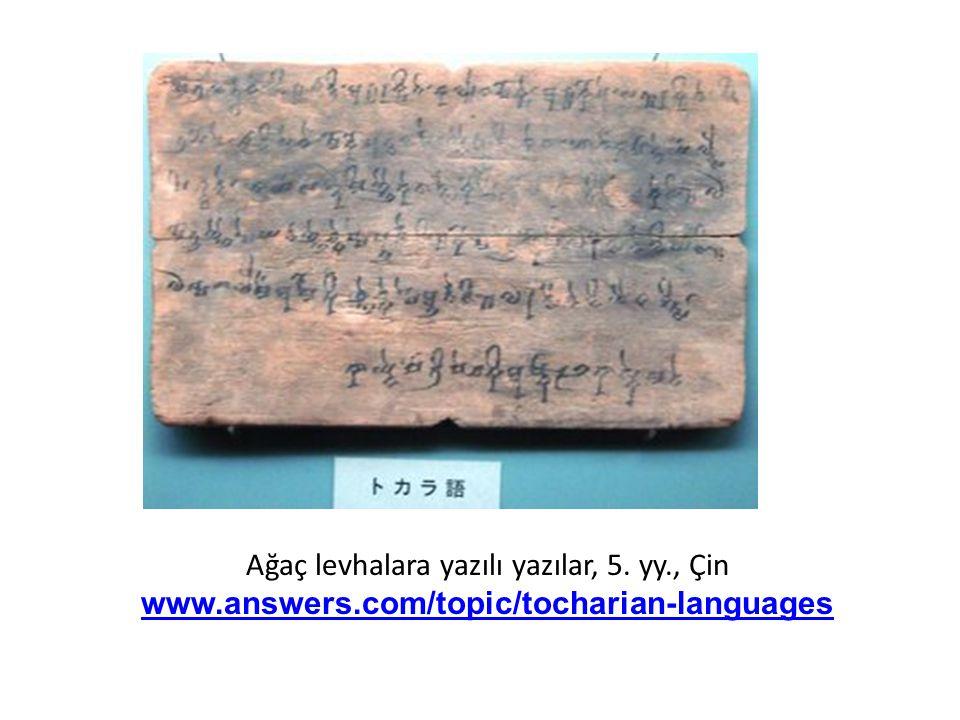 Ağaç levhalara yazılı yazılar, 5. yy. , Çin www. answers