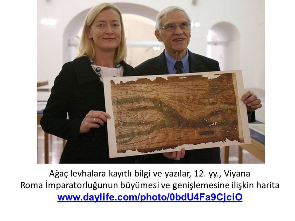 Ağaç levhalara kayıtlı bilgi ve yazılar, 12. yy., Viyana