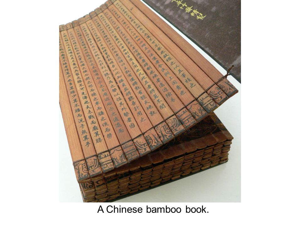 A Chinese bamboo book.