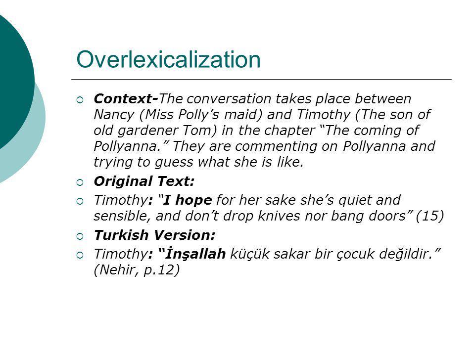 Overlexicalization