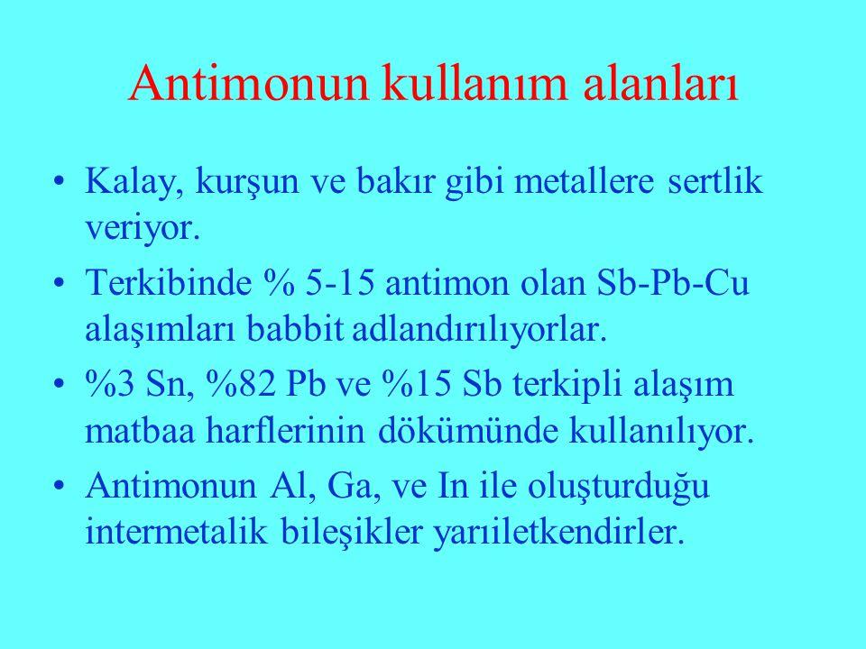 Antimonun kullanım alanları